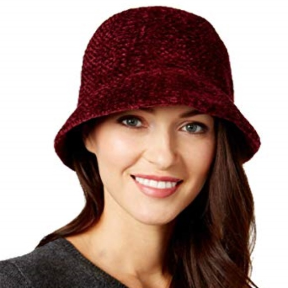 98becf0e247 AUGUST HATS CHENILLE CLOCHE Wine